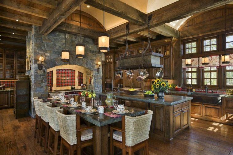 Cocinas r sticas los mejores ejemplos del estilo - Pilares y columnas ...