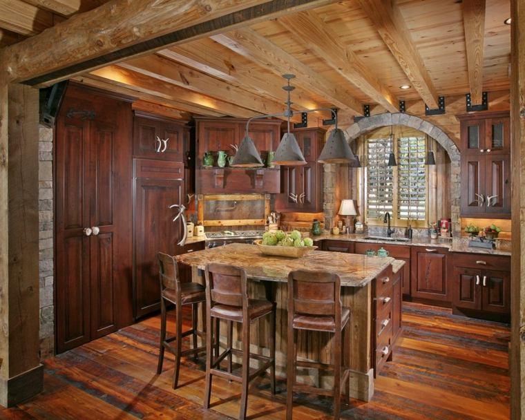 cocinas rusticas diseno muebles originales estilo ideas