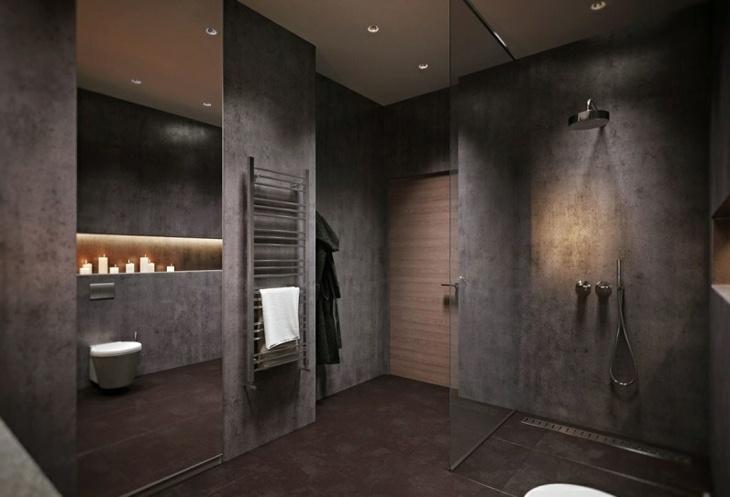 color gris baños cristales duchas velas
