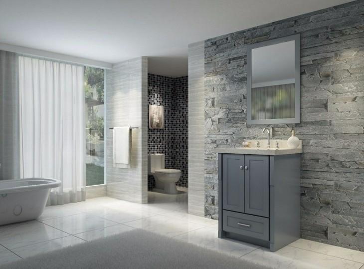 25 Bathroom Design Ideas In Pictures: Color Gris Baños Con Diseños Acogedores Y Asombrosos