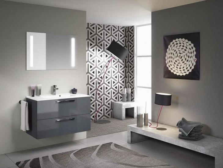 color gris baños decoraciones materiales led