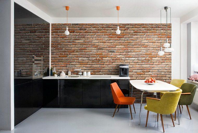concepto paredes cocina moderna