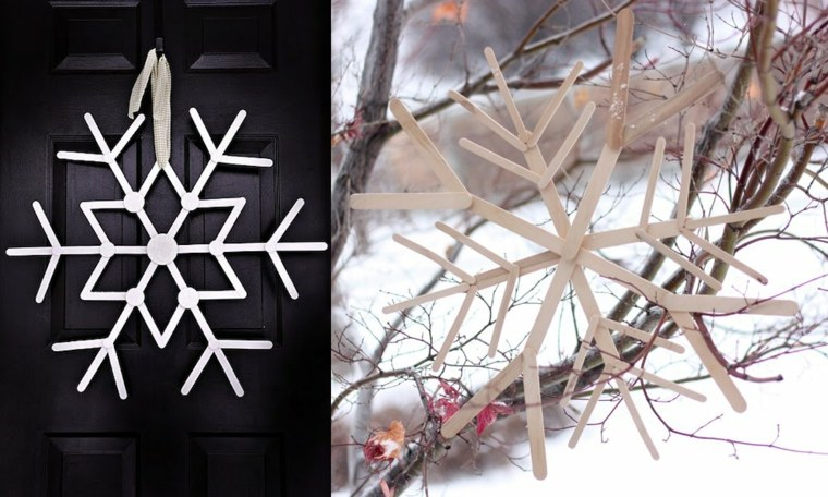 copo nieve palillos madera deco