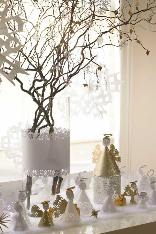 Cosas de navidad 43 ideas de manualidades para decorar - Decoracion navidad papel ...