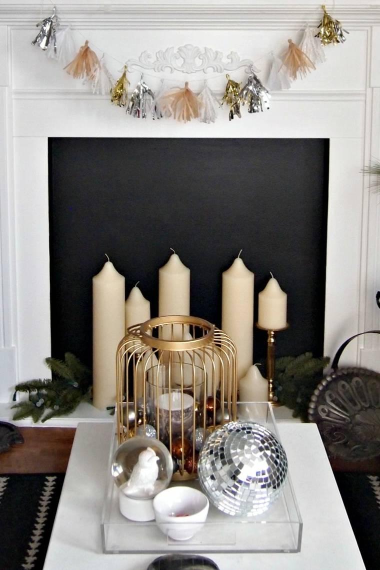cosas de navidad decoracion manialidades guirnalda chimenea ideas