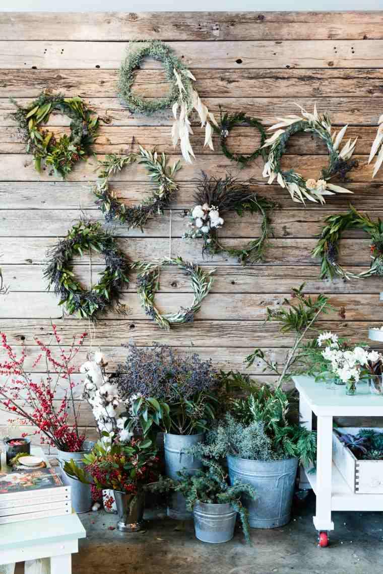 cosas de navidad decoracion manialidades guirnaldas plantas ideas