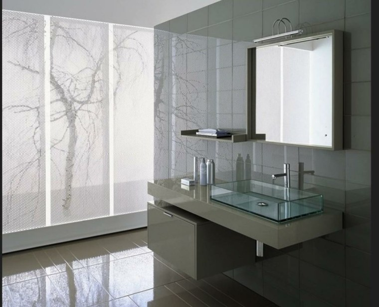 cuarto de bano moderno brillante