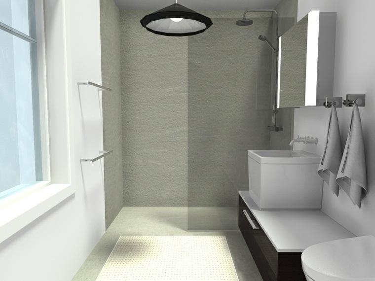 Cuartos de ba o con ducha pequenos - Banos cuadrados con ducha ...