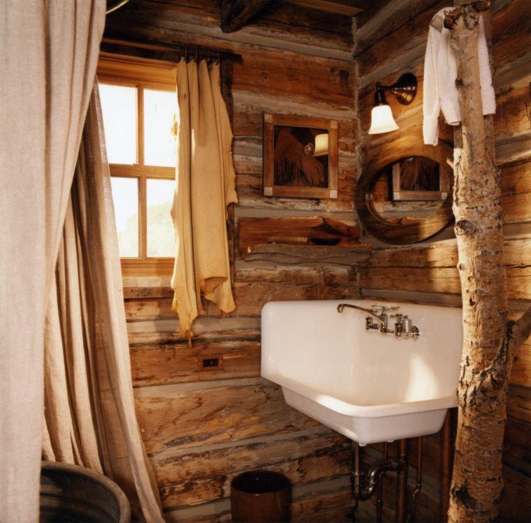 cuartos de baño rústicos interior