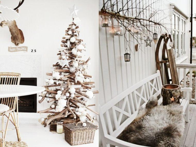 dcoración de navidad elementos naturales