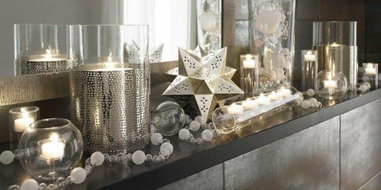 dcoracion moderna Navidad tonos plata