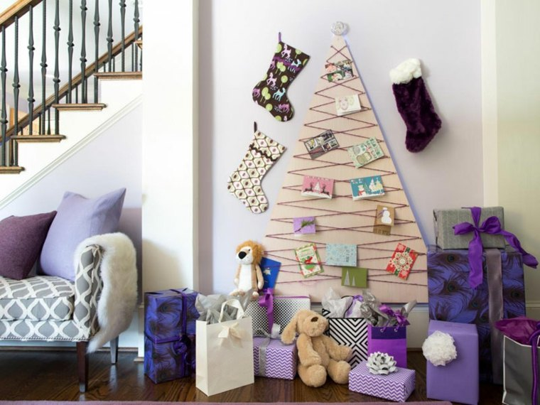 decorar abeto plano purpura