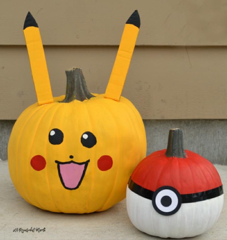Calabazas sin tallar para este halloween 42 ideas - Decoracion de calabazas ...