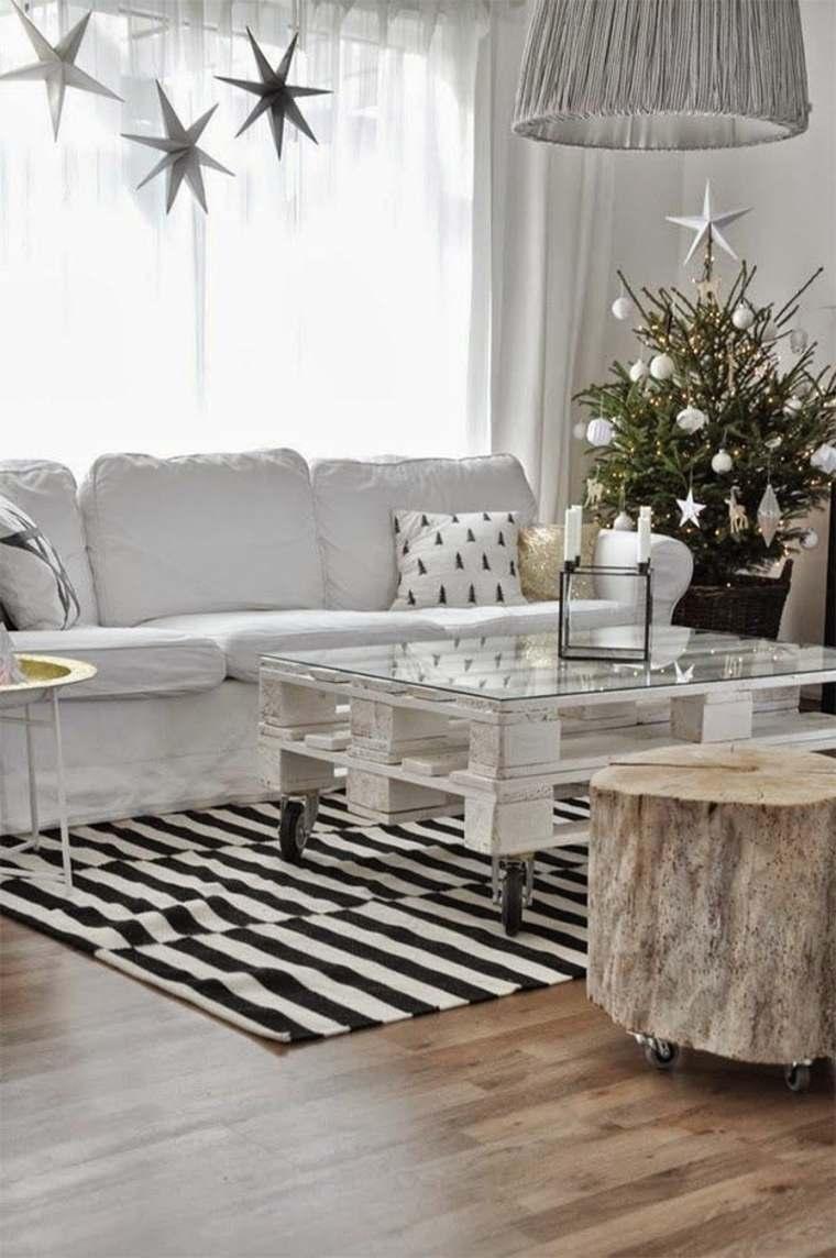 decorar salon navidad moderna