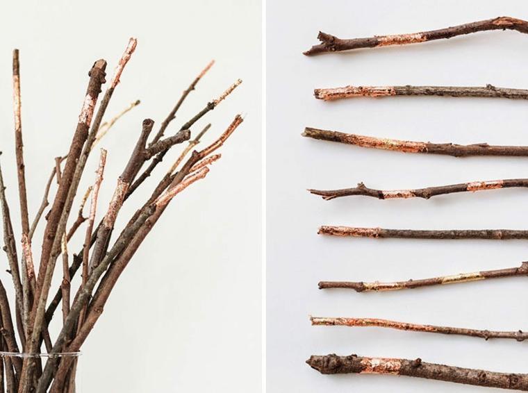 decorar sencillas ramitas secas