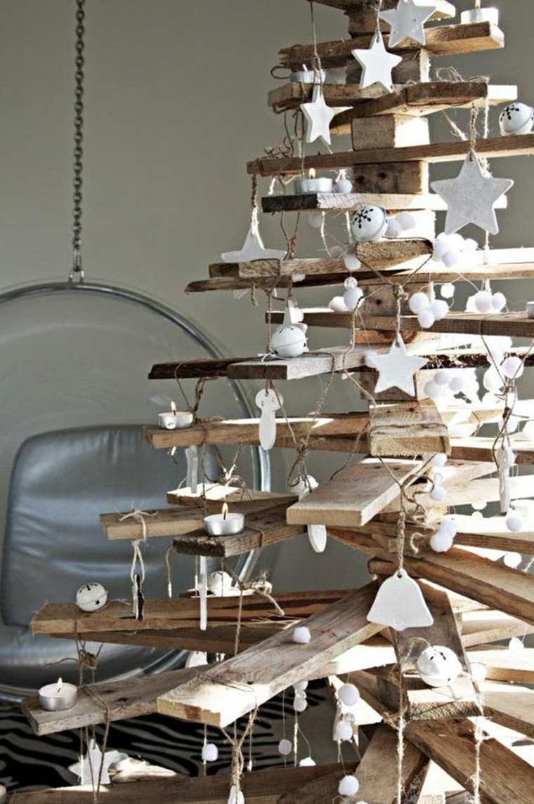 decoracin arbol navidad madera - Arbol De Navidad De Madera