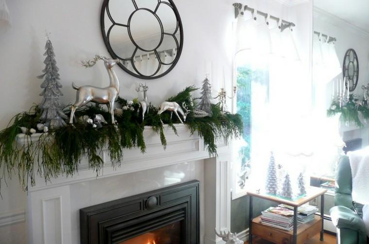 decoración navidad blanco plata
