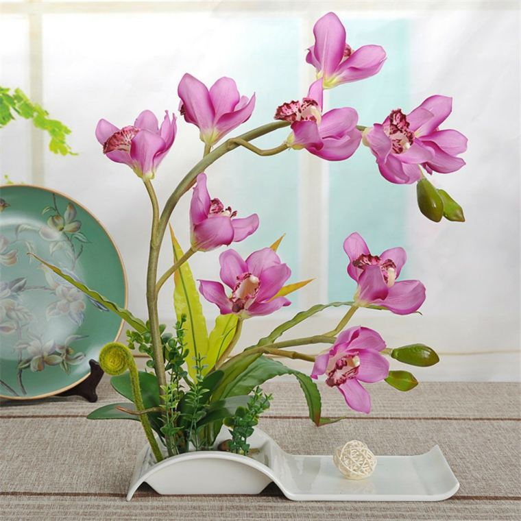 Decorar con flores artificiales el interior - Decoracion con flores artificiales ...