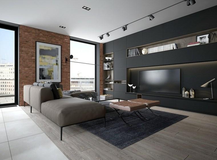 decoración con ladrillos interiores modernos