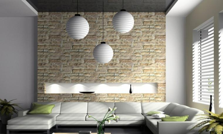 Decoración con ladrillos para paredes -
