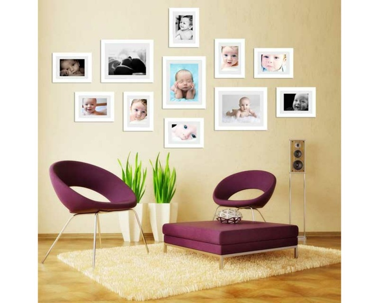 decoración con marcos de fotos