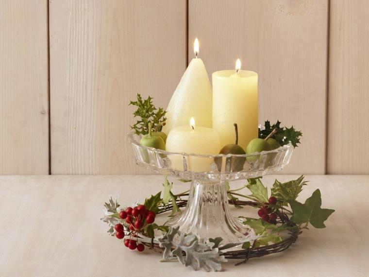 decoración con velas altas