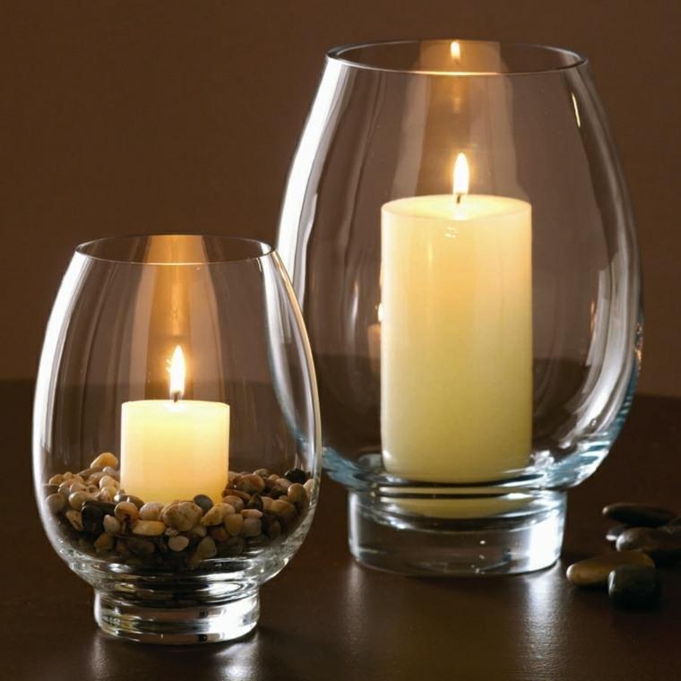 decoración con velas mesa