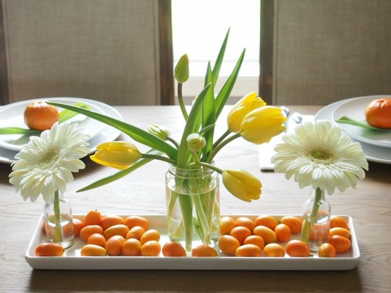 Decoraci n de mesas con colores oto ales - Adornos de mesa de comedor ...