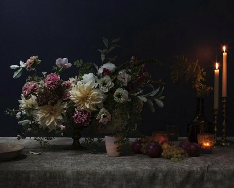 decoración de mesas de salón otoño