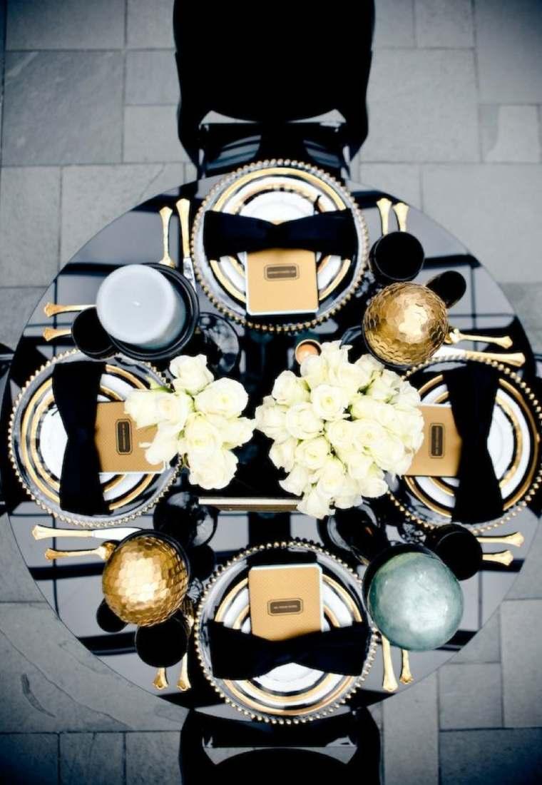 decoración de mesas de salón