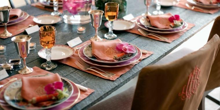 decoración de mesas interior otoño