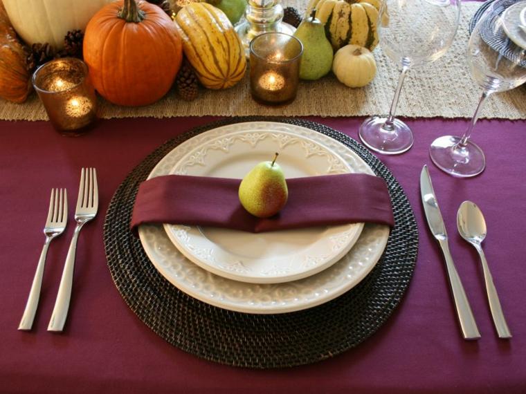 decoración de mesas otoño
