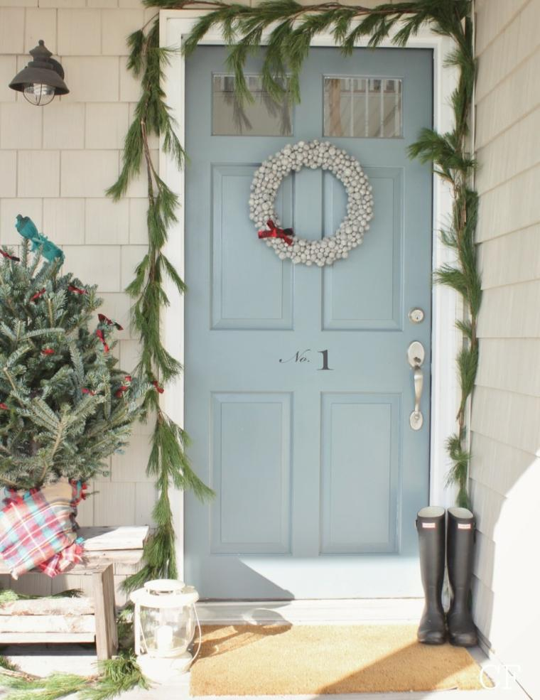 Navidad Decoracion De Puertas ~ Una guirnaldas grandes para al decoraci?n de la puerta de entrada
