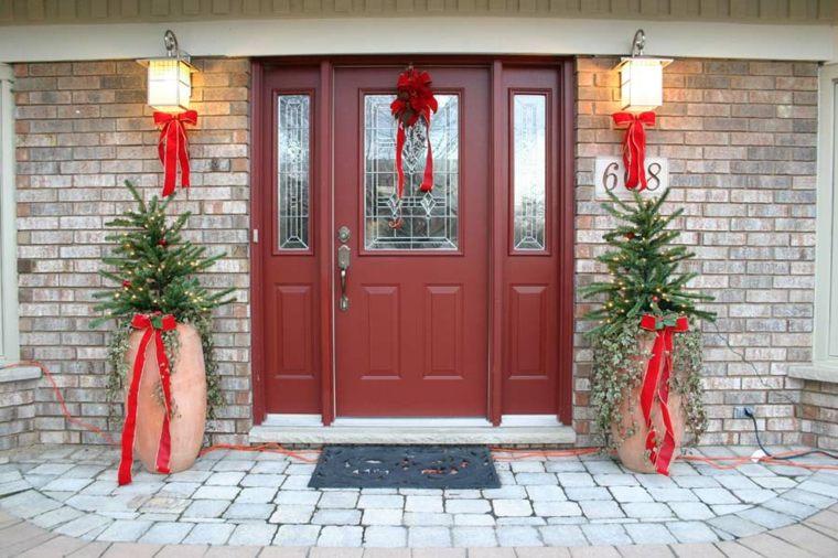 decoración de puertas de navidad exteriores