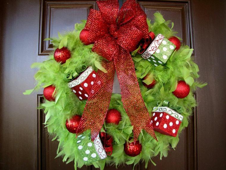 decoración de puertas de navidad