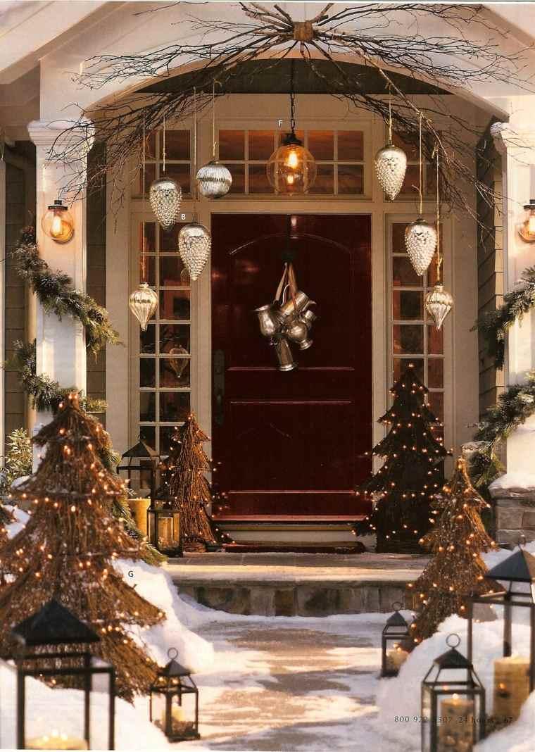 Decoraci n de puertas de entrada para navidad for Herbstdeko 2016 draussen