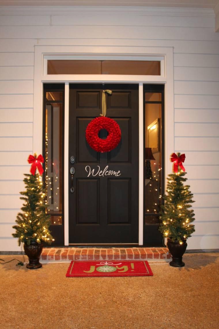 decoración de puertas exteriores navidades