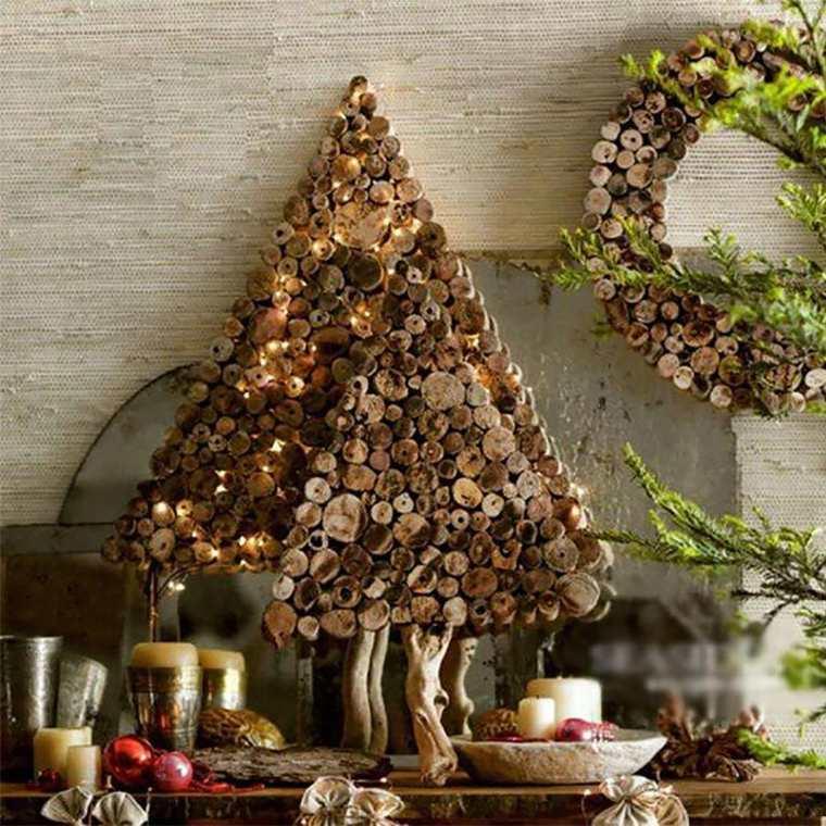 decoración navideña en casa interior