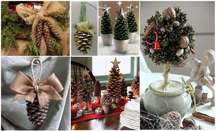 decoración navideña en casa salón