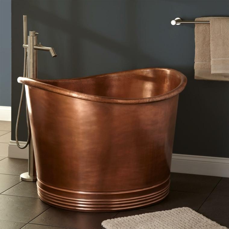decoración original cobre baño