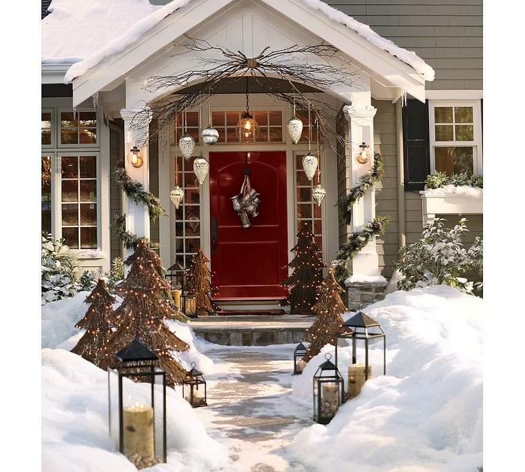 decoracion original navidad puerta casa ideas