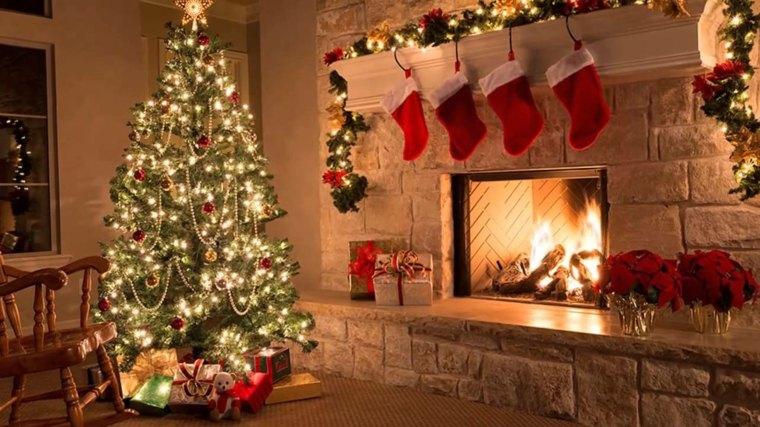 decoración para navidad salón