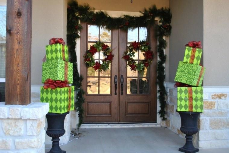 Decoraci n de puertas de entrada para navidad - Decoracion de entraditas ...