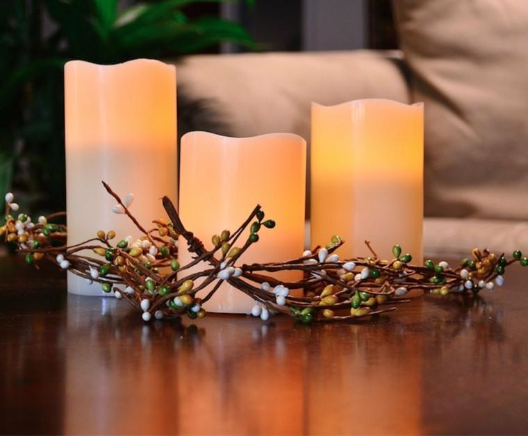 decoraciones con velas mesa