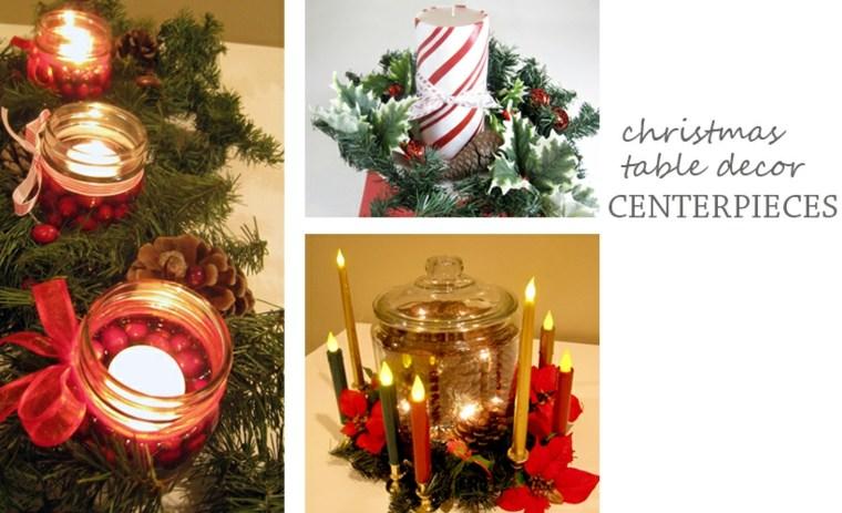 decoraciones navidenas para centro mesa