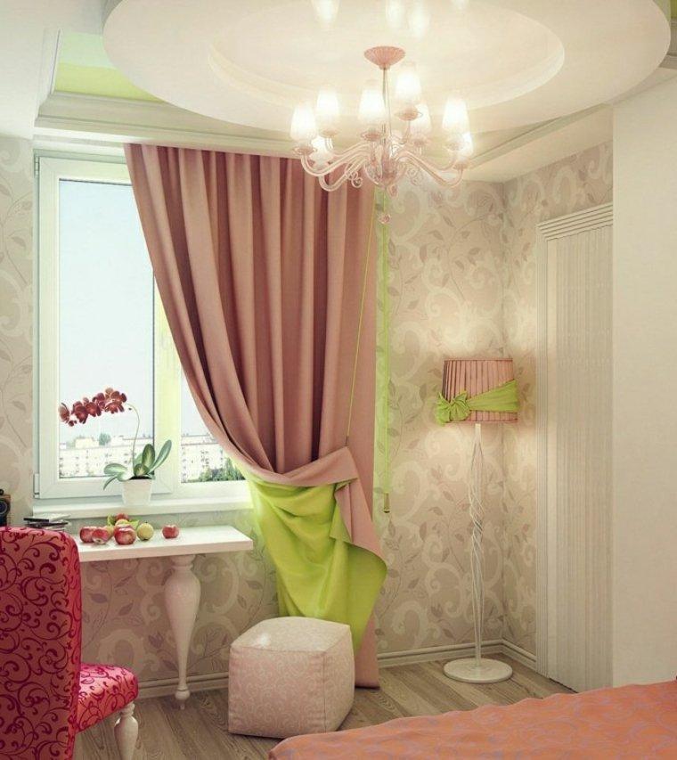 decorar con cortinas interiores
