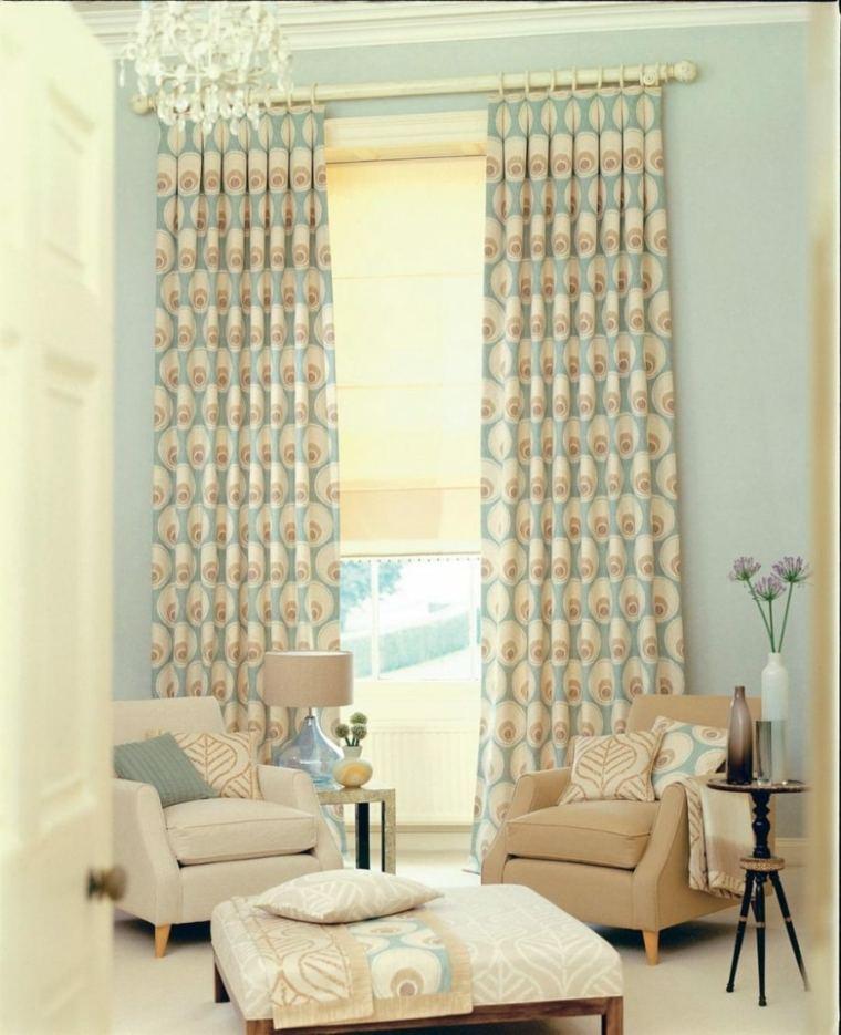 decorar con cortinas sala de estar