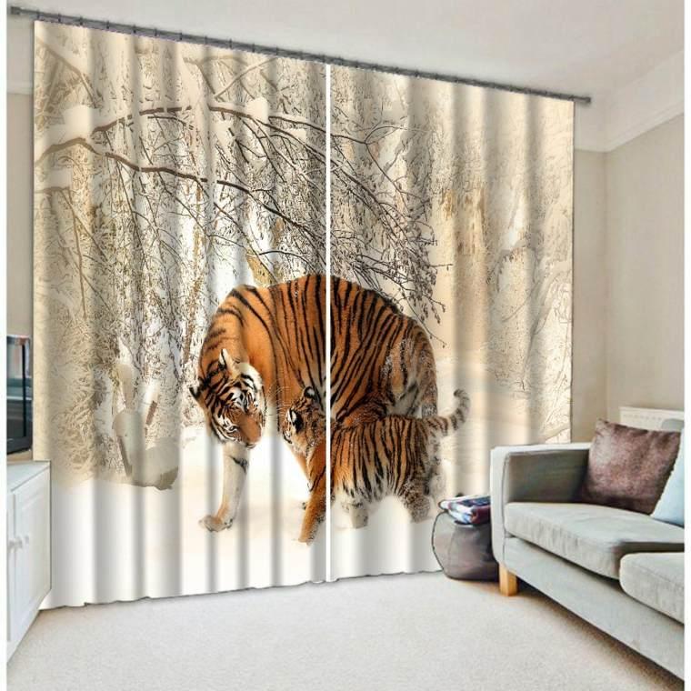decorar con cortinas salón
