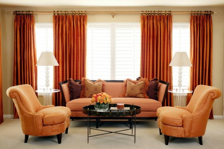 decorar con cortinas salones