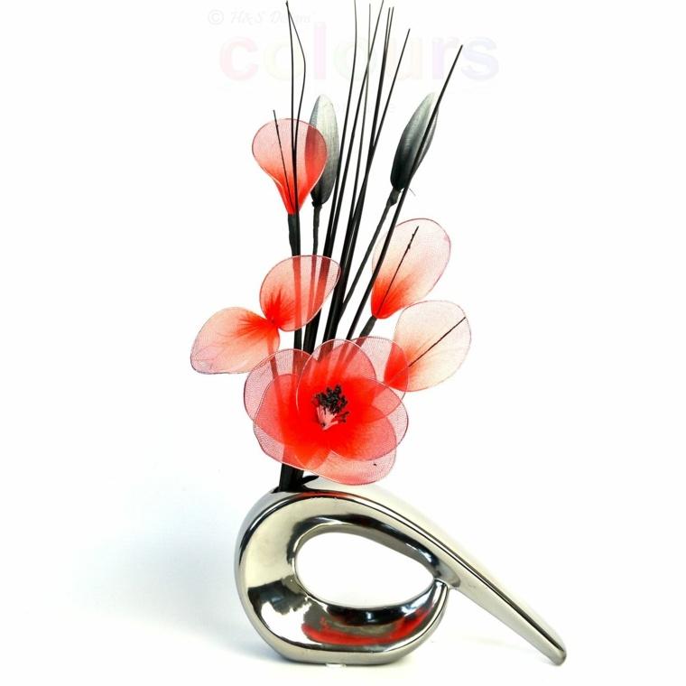 decorar con flores artificiales interior casa